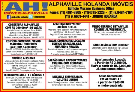 Anúncios da Alphaville Holanda Imóveis e Avaliações publicado no Jornal Folha de Alphaville em 08.03.2013