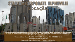 Salas Locação no Edifício Stadium Corporate em Alphaville Barueri SP. Foto e Montagem Gráfica de Júnior Holanda.