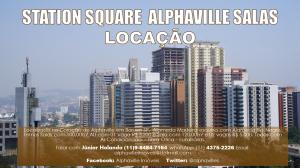 Salas para Locação em Alphaville Edifício Station Square na Alameda Rio Negro esquina com Alameda Madeira. Foto e Montagem Gráfica de Júnior Holanda.