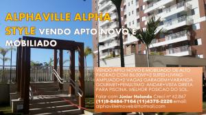 Lindo Apartamento Completamente Mobiliado no Edifício Alpha Style com 02 Suítes e 02 vagas. Aceita financiamento. base R$ 850.000.