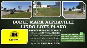 banner BURLE MARX ALPHAVILLE LINDO LOTE PLANO