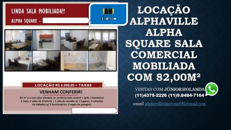 LOCAÇÃO ALPHAVILLE ALPHA SQUARE SALA COMERCIAL MOBILIADA 04.12.2015