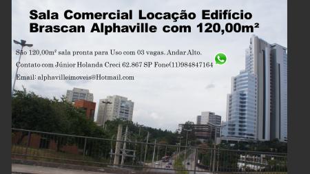 Sala Comercial Locação Edifício Brascan Alphaville com 120,00m²